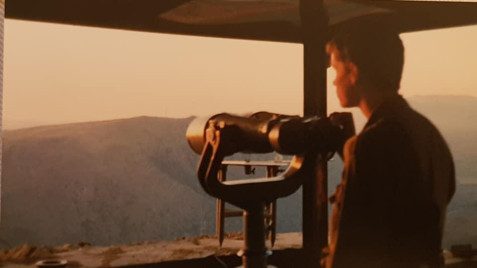 """חמ""""ל 'גלגלית', 1994. עמדת תצפית שהשקיפה אל הבופור, יוחמור, דיר מימאס וברך הליטני"""