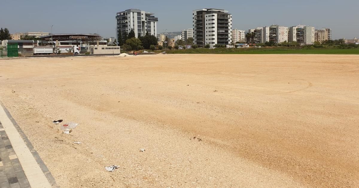 השטח עליו נבנה מגרש הכדורגל החדש