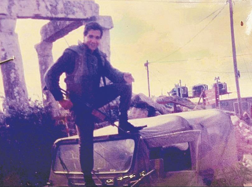 וקנין כחייל צעיר בג׳בל בלאט