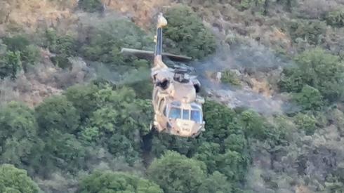 מסוק חיל האוויר הוזעק לזירת האירוע