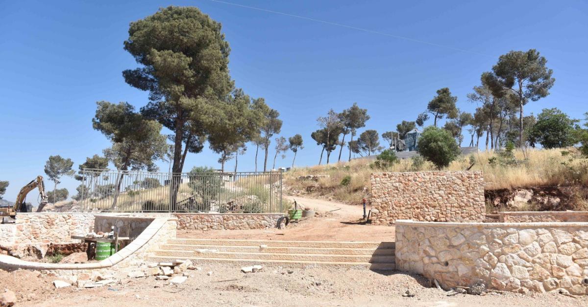 העבודות בפארק יגאל אלון