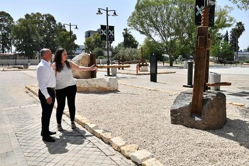 ראש העיר אבי אלקבץ מבקר במקום