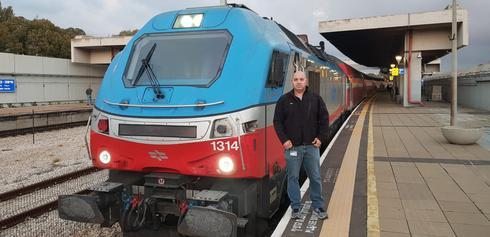 נהג הקטר. צילום: דוברות הרכבת