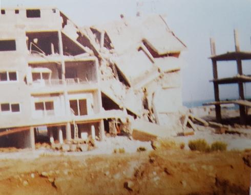 מבנה הרוס בלבנון   צילום: עודד יזרעאלי