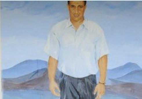 הציור לזכרו של דוד דניאל במגרש