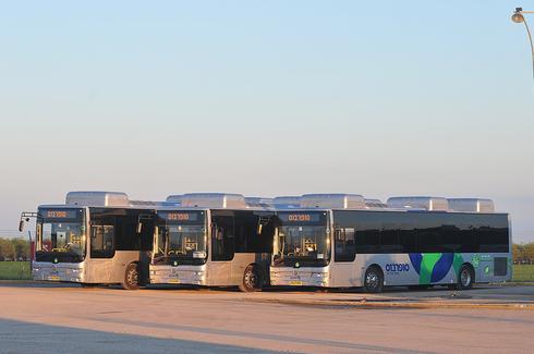 אוטובוס מונע בגז טבעי. פחות רעש * צילום: בן ניקסון