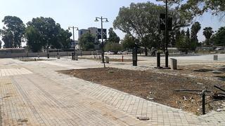 האזור בפארק הרכבת בו יוקם המוזיאון (צילום: דוברות עיריית עפולה)