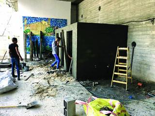 השיפוץ בבית הכנסת | צילום: עיריית נוף הגליל