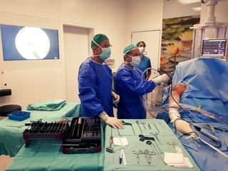 מהלך הניתוח (צילום: דוברות RMC בעפולה)