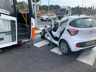"""זירת התאונה. צילום: מד""""א"""