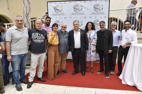 אירוע הפתיחה עם ראש העיר נצרת עלי סלאם (צילום: שרון צור)