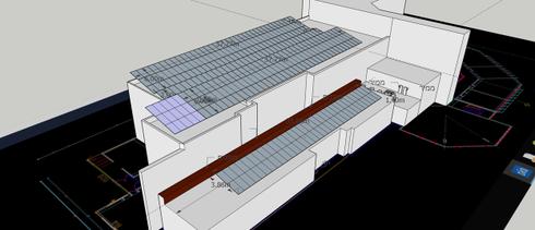 לוחות סולאריים על גג המכללה (הדמיה באדיסות המכללת הטכנולוגית נוף הגליל)