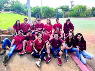 תלמידים באדום | צילום: אלבום פרטי