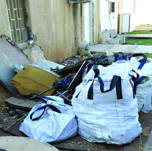 פסולת בניין. שדרוג איכות החיים | צילום: דוברות עיריית בית שאן