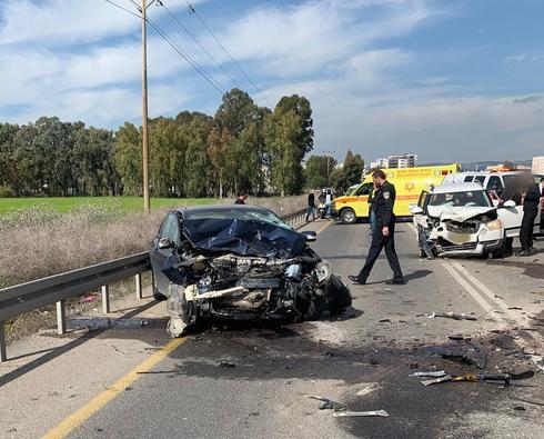 """זירת התאונה (צילום: תיעוד מבצעי מד""""א)"""